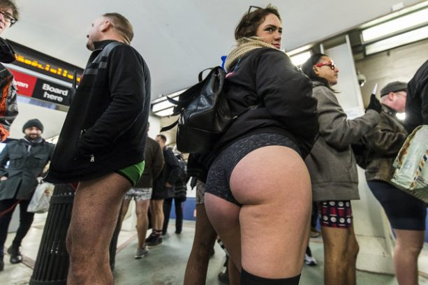 No Pants Subway Ride Shows Off Some Cubs-Themed Underwear