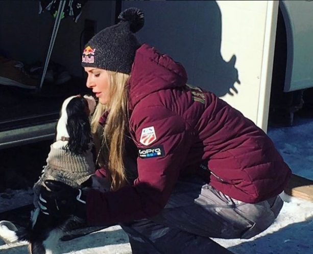 Lindsey Vonn's New Skiing Partner Can Keep Up