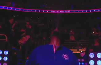 Joel Embiid Made A Triple H Water Spit Entrance