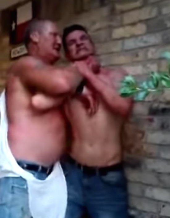 Two Drunk Rednecks Fighting Over Last Beer