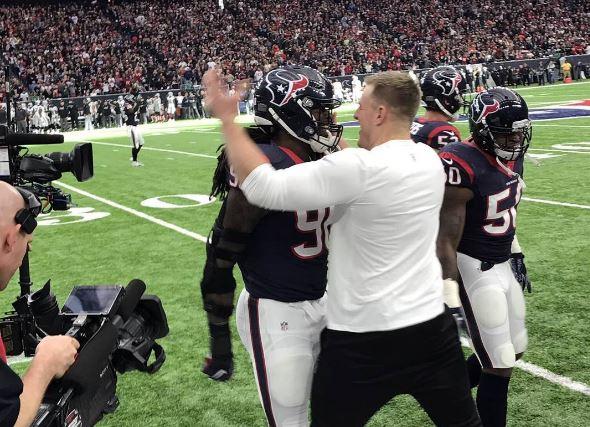 J.J. Watt's Girlfriend Was In Houston Cheering On The Texans
