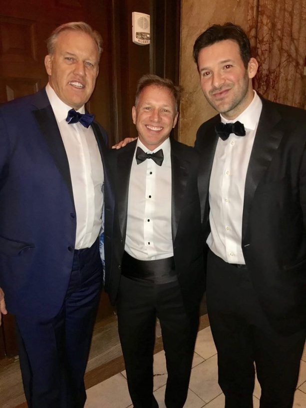 Tony Romo Hanging With John Elway At Election Party