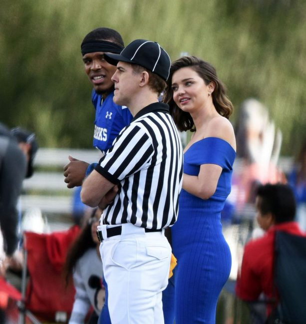Cam Newton Shooting with Supermodel