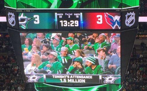 Dallas Stars Report Attendance At Last Night's Game Was 1.5 Million
