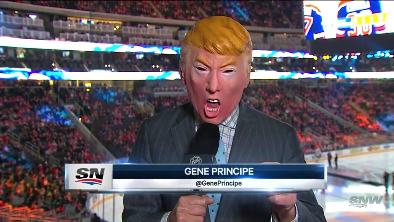 Oilers Announcer Wore A Trump Mask During Pregame