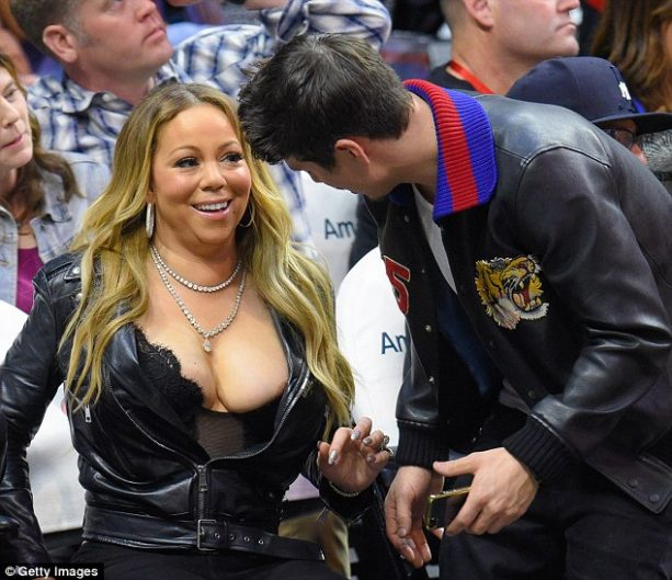 Mariah Carey Busted out at Clippers Game