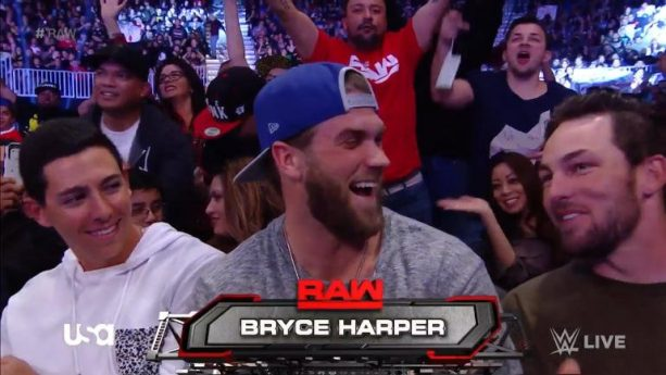 Bryce Harper Having Some Fun At WWE Raw