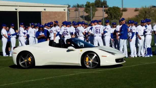 Chicago Cubs Learning Lessons with High Performance Sports Cars