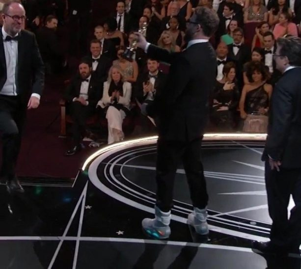 Seth Rogen Flexin' Air Mags at the Oscars