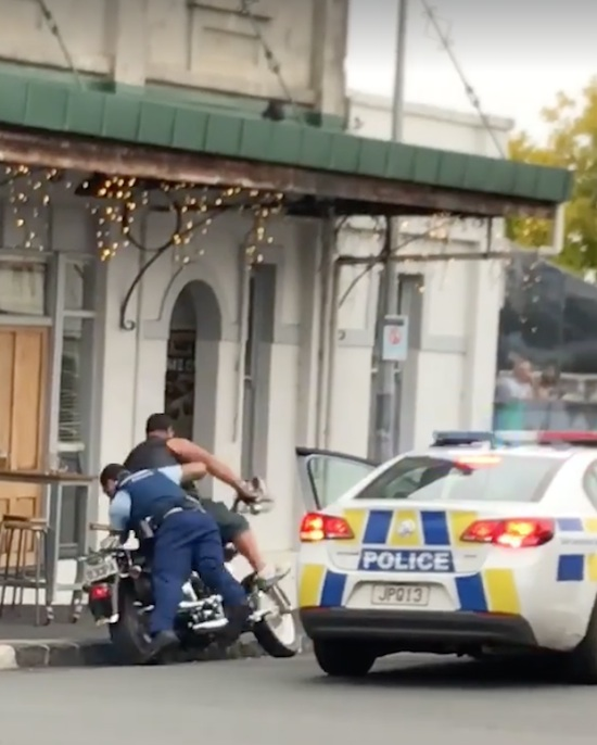 Meanwhile In New Zealand Cops Are Getting Aggressive