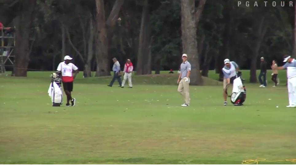 Pro Golfer Drains 101 Yard Wedge To Force Playoff