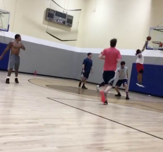 Todd Gurley Hooping at 24 Hour Fitness