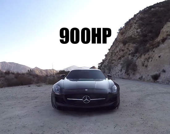 900 HP Twin Turbo Mercedes SLS AMG – One Take