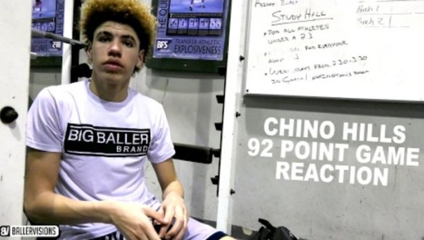Locker Room After 92 Point Game From LaMelo Ball