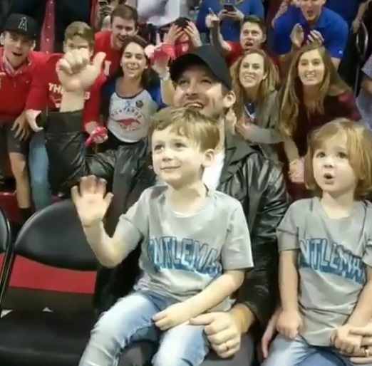 Tony Brings the Little Romos to a College Basketball Game