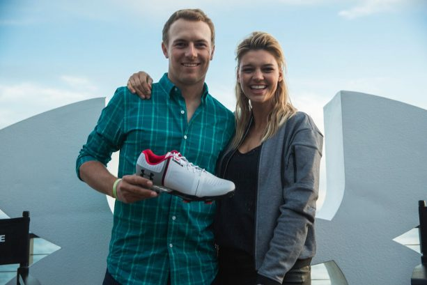 Jordan Spieth Hangs with Kelly Rohrbach to Introduce to Under Armour Spieth One Golf Shoe