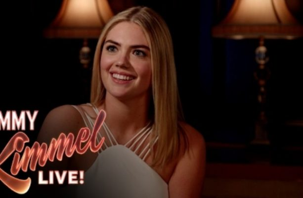 "Kimmel Asks Kate Upton ""3 Ridiculous Questions"""