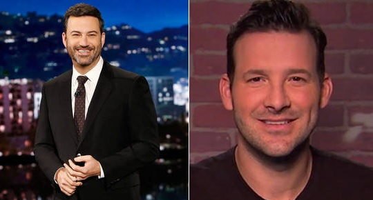 Tony Romo Gives Advice to Jimmy Kimmel for Oscars Sunday