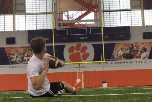 Freshman Clemson Quarterback Shows Off His Accuracy