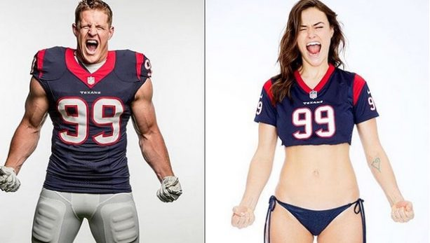 SI Swimsuit Model Not Digging Picture with JJ Watt