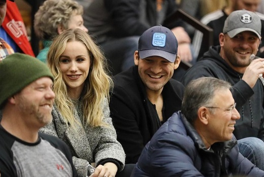 Tony Romo Brings the Wife to Check out High-school Hoops