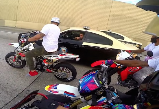 Supermotard Riders Roll Through Miami & Police Call For Backup