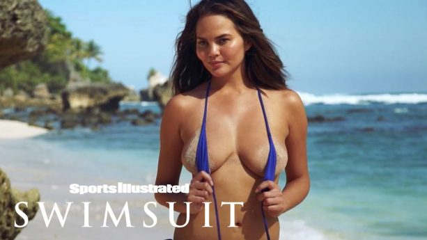 SI Swimsuit Star Chrissy Teigen Shows Off Her Post-Baby Body