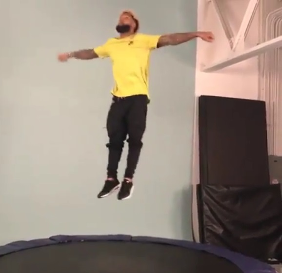 Odell Beckham Jr. Flipping Around at Photo Shoot