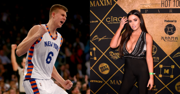 Kristaps Porzingis Dunked up in Abigail Ratchford's Instagram