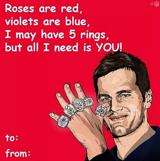 Tom Brady Sends out Valentines Day Message