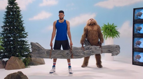 Sasquatch trains Timberwolves player Karl-Anthony Towns