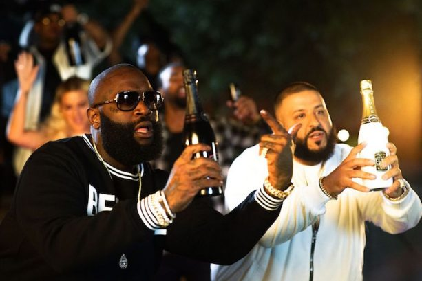 DJ Khaled & Rick Ross Compete In Cork Popping Championship