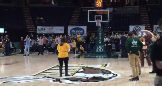 Woman Hits Halfcourt Shot and Gets Proposed To All in One Game