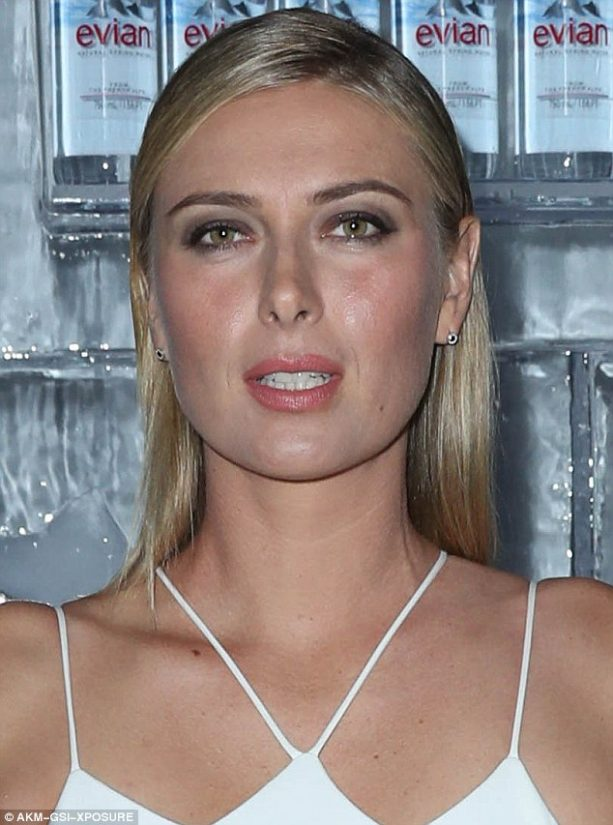 Maria Sharapova Showcases Herself in Tight White Dress