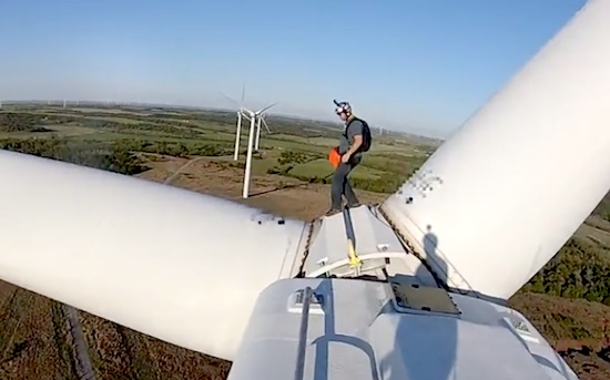 Checkout This Blade Running  Base Jumper