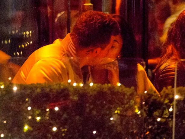 Johnny Manziel & Bride-to-be French Kissing In Paris