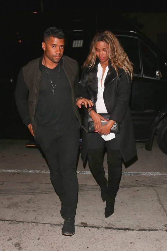 Russell and Ciara Spotted at LA's Trendiest Restaurant