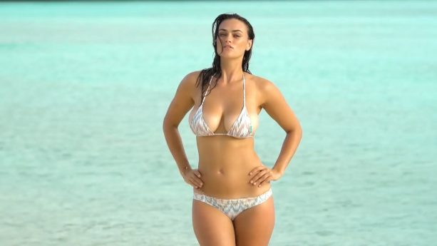Myla Dalbesio Gets Wet, Wears Nothing But Sand In Curaçao