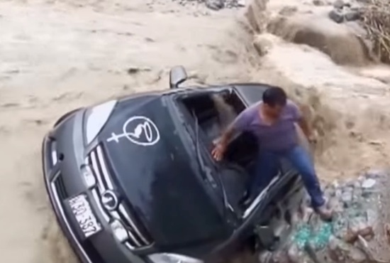 Meanwhile In Peru A Shattered Windshield Saved This Dudes Life