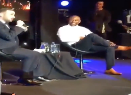 Conor McGregor Impersonator Crashes Floyd Mayweather Q&A