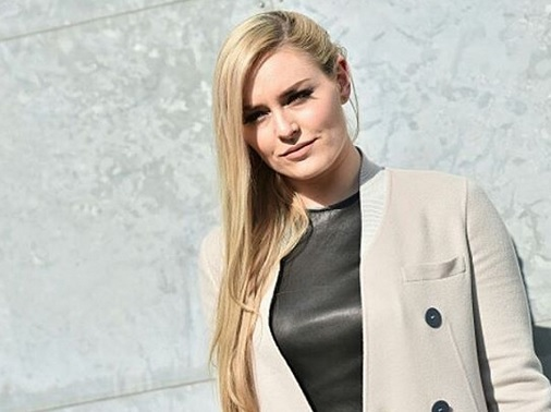 Lindsey Vonn Shows off Bad Ass Scar at Milan Fashion Week