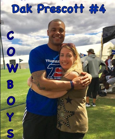 Dak Prescott Hugs and Catch for God Loving Fans
