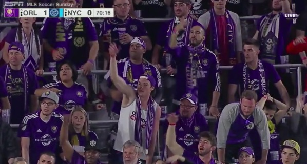 Orlando City fans chanting Ludacris Lyrics to Injured NY Player