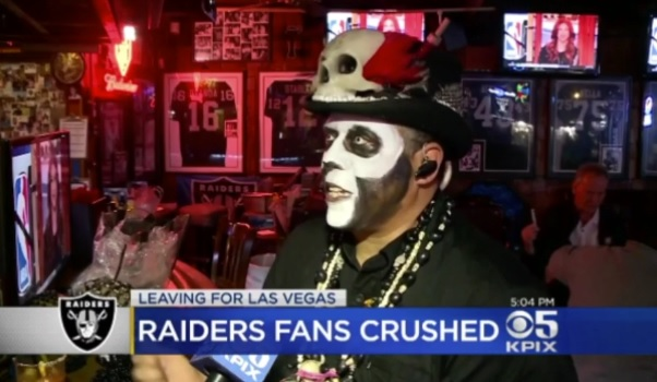 Raiders Fan Voodoo Man Curses Vegas for Its Boobs