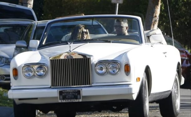 Russell Wilson and Ciara in Rolls Royce