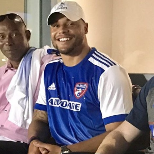 Dak Prescott at the FC Dallas game