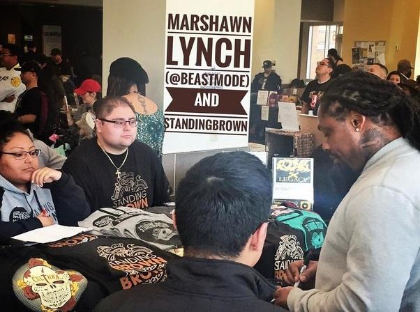 Marshawn Lynch Rocks the School Bells