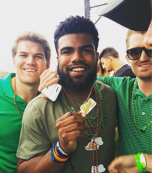 Ezekiel Elliott Feeling Lucky at the St. Patrick's Block Party