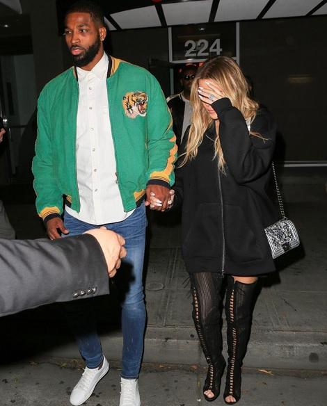 Khloe Kardashian And Tristan Thompson Hit A Hookah Bar