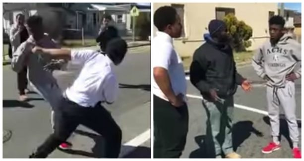 Man Breaks up Street Fight and Exposes Fake Friends